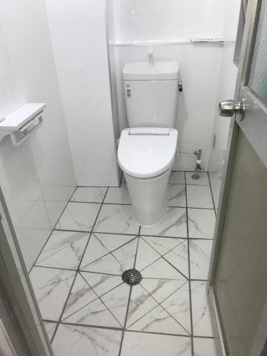 トイレリフォームの施工事例 | 和式トイレの写真(施工後)
